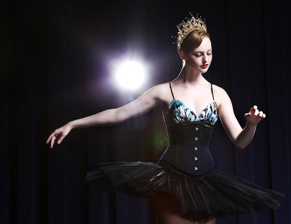 Angela Friedman ballerina ballet style fashion designer collection of lingerie and corsets corset tutu dancer style