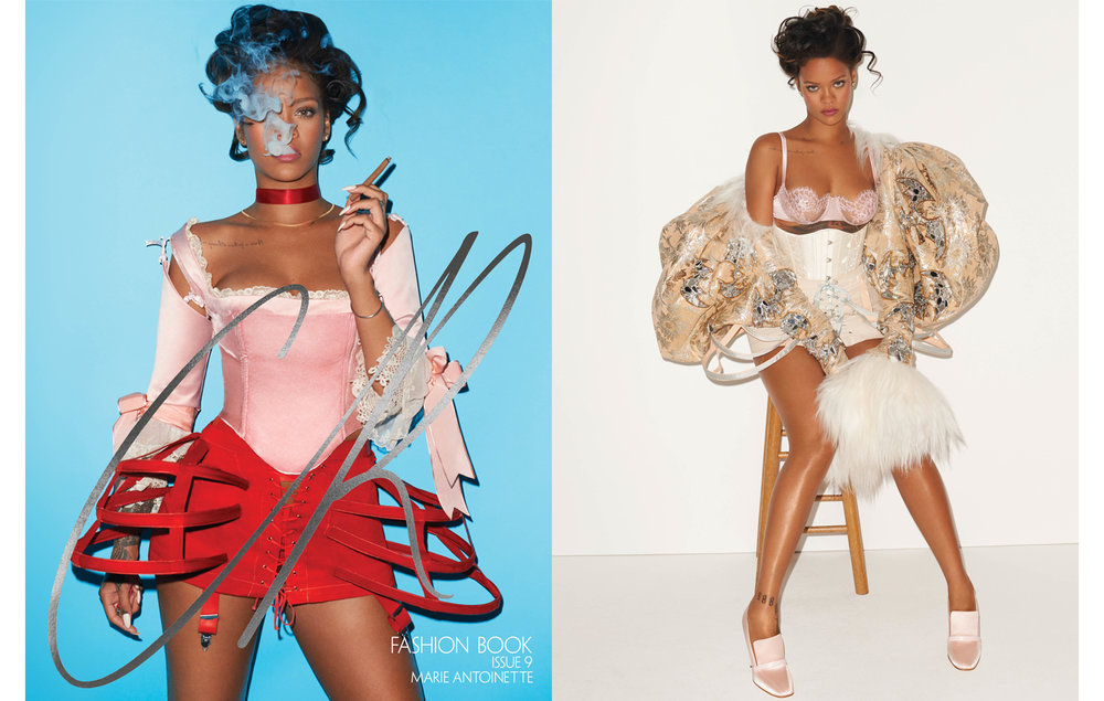 Angela Friedman corset on Rihanna in CR Fashion Book CR9