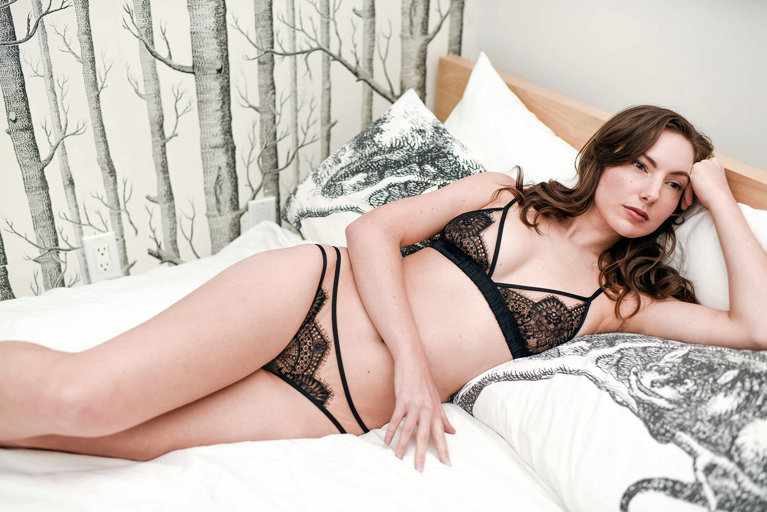 Angela Friedman Giselle lingerie set, silk and French lace bras and panties knickers, luxury lingerie sets online shopping