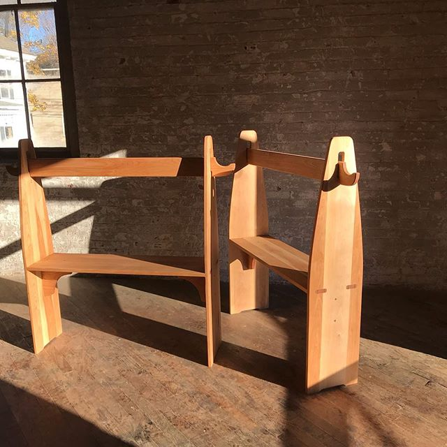 Waldorf play stands in Red Birch for The Steiner school in Manhattan. #playstands #kids #preschoolfurniture #redbirch