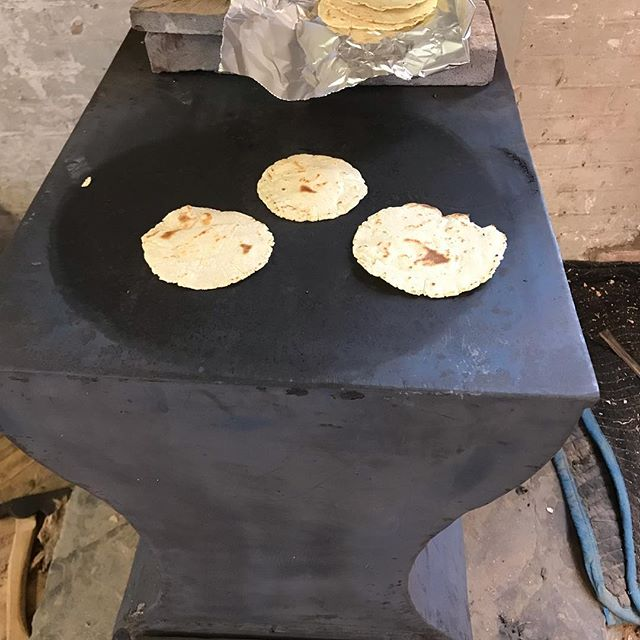 Shop tacos! Homemade tortillas, why don't we do this everyday? #shoptacos #homemadetortillas #lunchtime