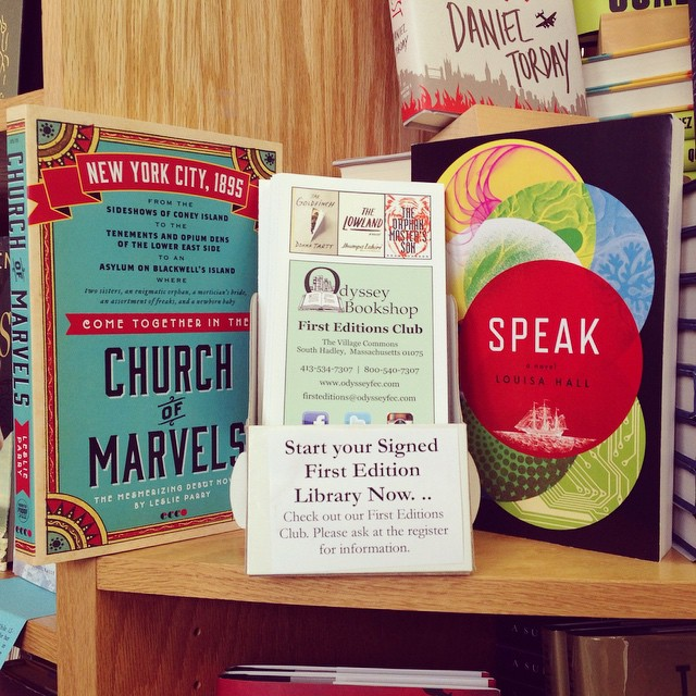 "Our picks for June and July, both from Ecco, Leslie Parry's ""Church of Marvels"" and Louisa Hall's ""Speak"" @leslie_parry @eccobooks #churchofmarvels #speak #firsteditionsclub #booklove #louisahall #leslieparry"