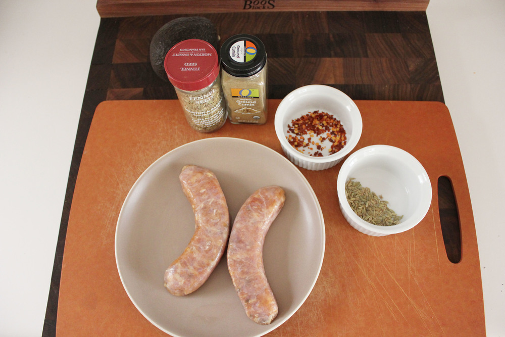 Seasoning store-bought sausage