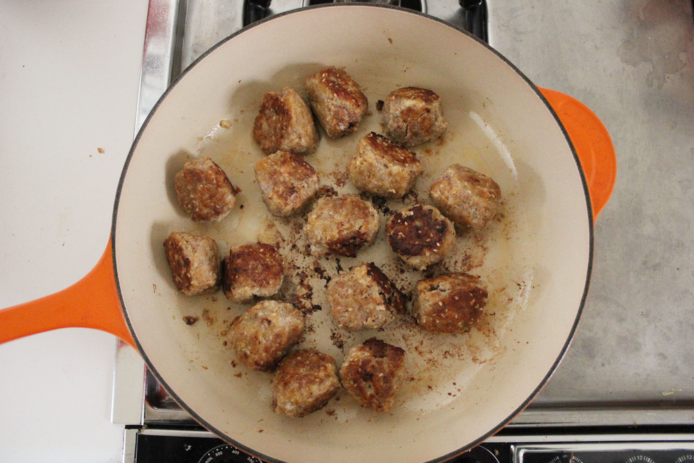 Smitten Kitchen S Sesame Spiced Turkey Meatballs Smashed Chickpea
