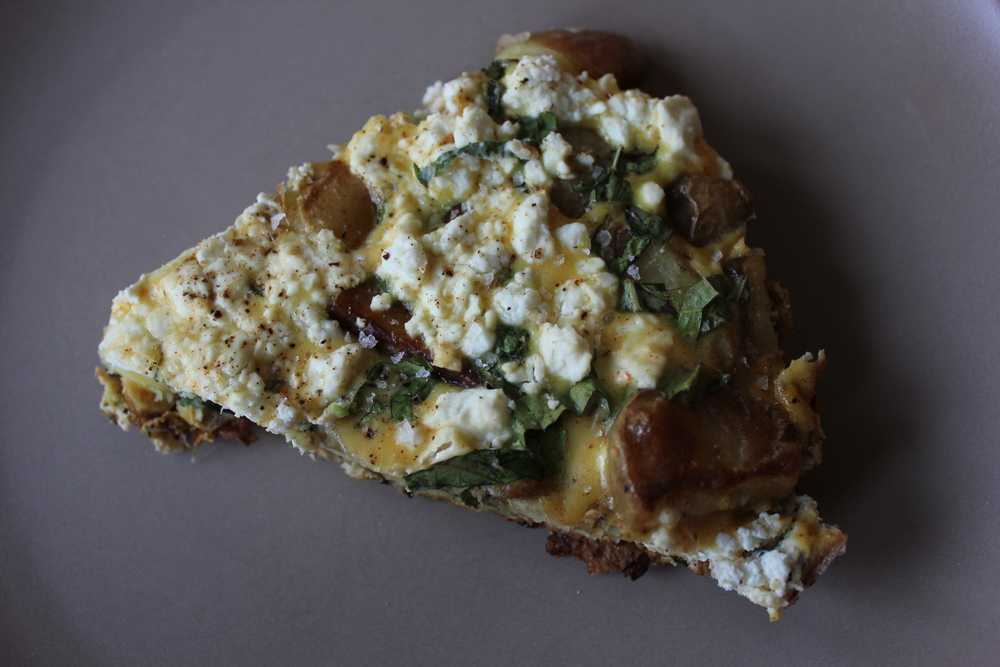 Potato, feta, and basil tortilla by David Lebovitz, My Paris Kitchen - #tapas #homemade #spanish www.fancycasual.com