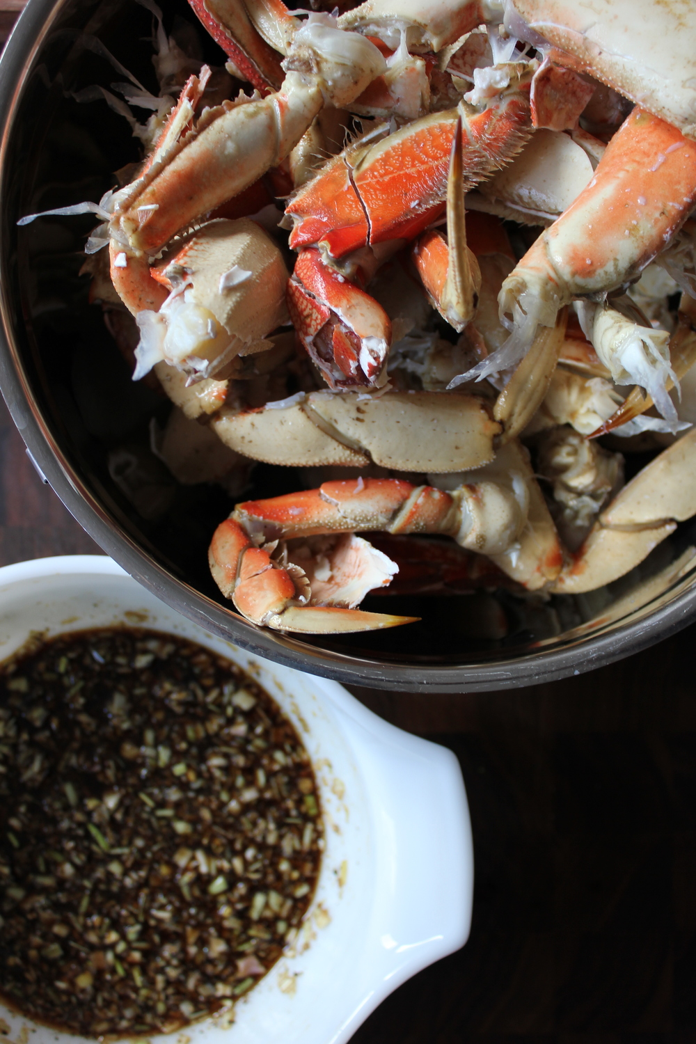 Dungeness Crab with Lemongrass, Black Pepper, and Basil - www.fancycasual.com