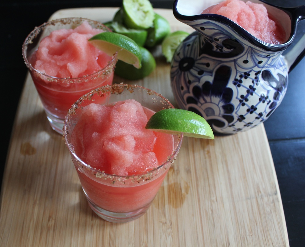Watermelon Margaritas with Tamarind Pepper Salt - Cinco de Mayo cocktails