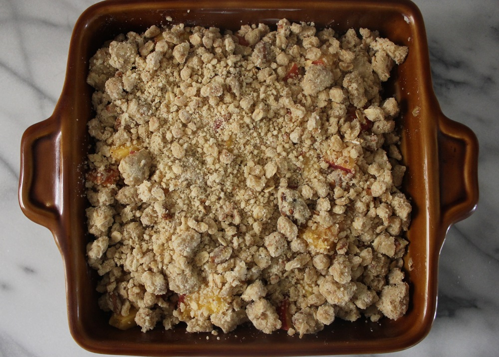 Peach and Pecan Sandy Crumble by Smitten Kitchen