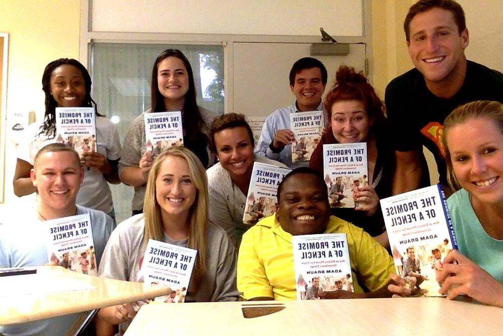 The team down in Lynn are also enjoying The Pencils of Promise by Adam Braun!