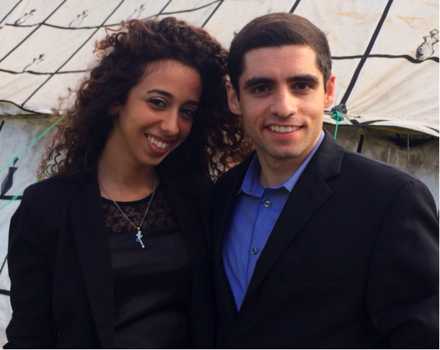 Sam with Sanaa Afouaiz, youth leader on climate change from Agadir
