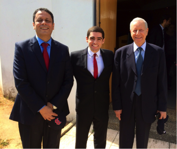 Sam meeting Minister Rachid Benmokhtar and Secretary Genera