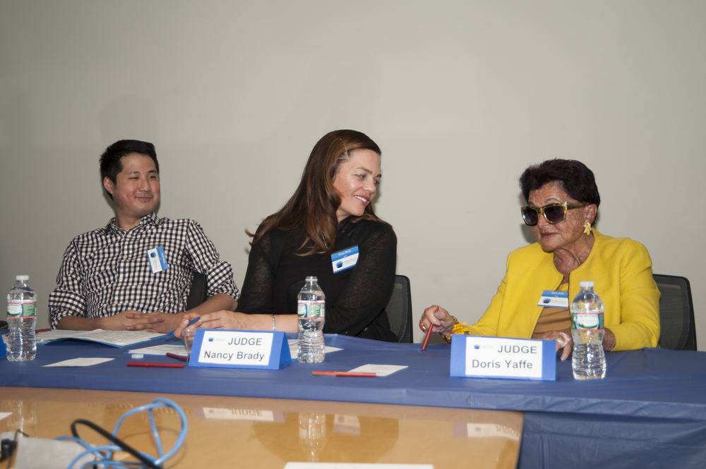 We could not have done it without our amazing judges: Nancy Brady of John Snow, Inc., Justin Kang of City Awake, and reknown publicist Doris Yaffe.
