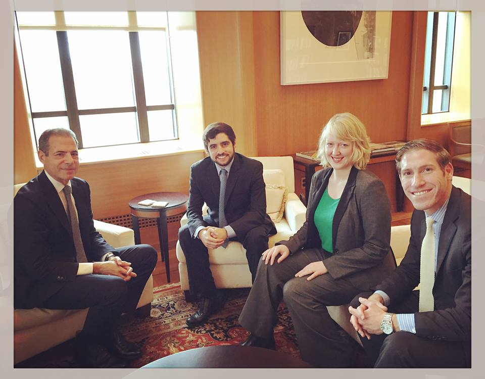 Abigail meeting with Under Secretary Richard Stengel, Special Advisor Andrew Rabens, and MCN Executive Director Sam Vaghar at the US Department of State in Washington D.C.