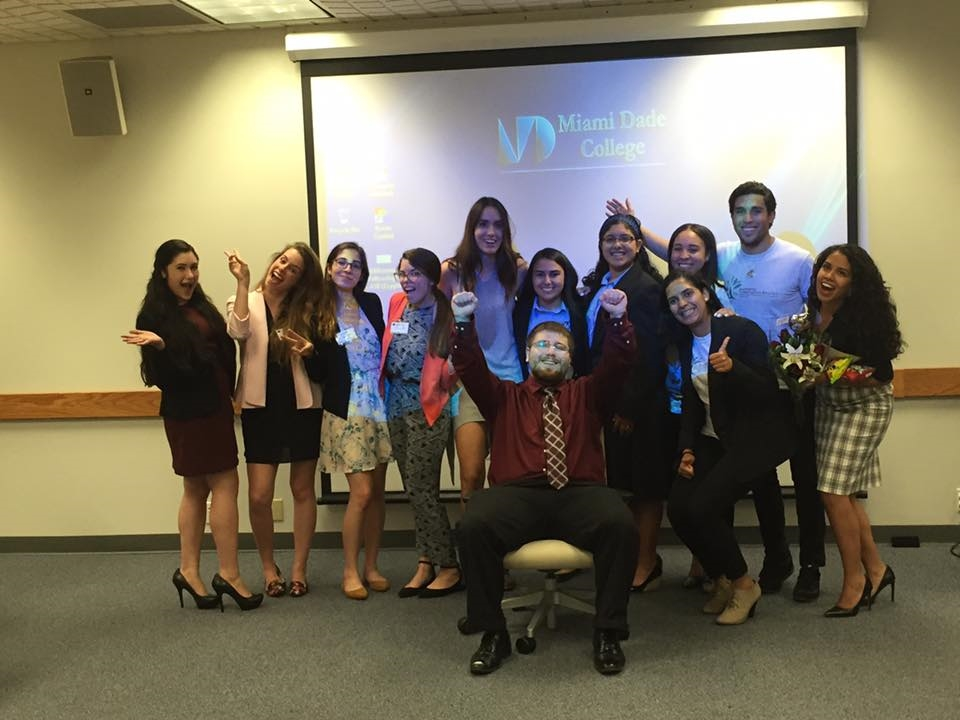 The Miami Millennium Fellowship class of 2016 celebrates the end of the year at the Pitching Competition and Graduation Soiree at Miami Dade College.