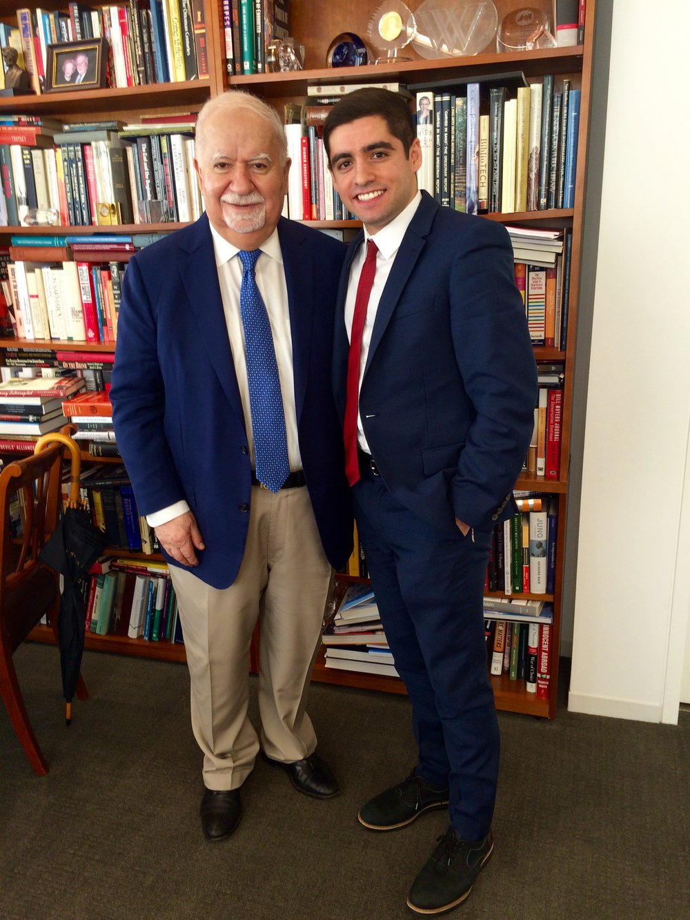 Dr. Vartan Gregorian, President of the Carnegie Corporation of New York, with Sam Vaghar, Executive Director, MCN.  Dr. Gregorian inspired the inclusion of student leaders on the MCN Global Education Council alongside University Presidents and administrators, citing a need for joint ownership in scaling this global network.