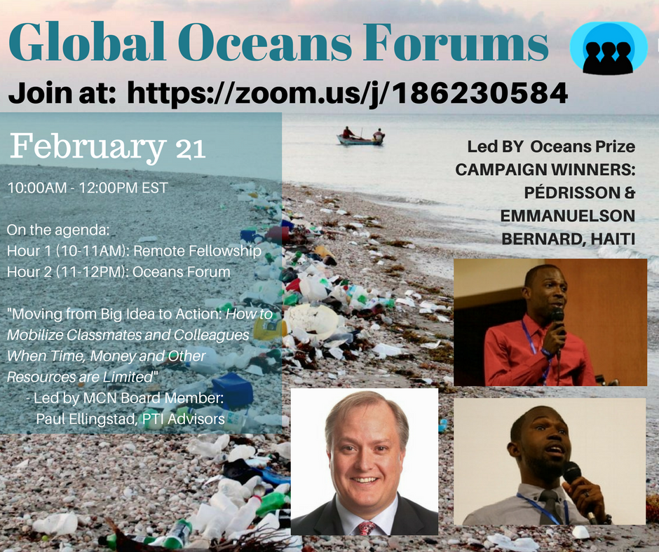 Join in on a Global Oceans Webinar to engage in interesting discussions on the oceans and climate change!