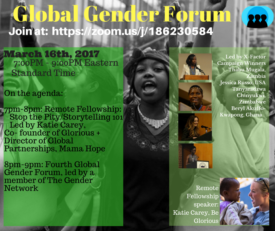 Join in on a Global Gender Webinar to engage in interesting discussions on global gender equality !