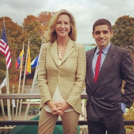 Kerry Healey, President of one of the Founding Millennium Campuses, Babson College, with Sam Vaghar, Executive Director, The Millennium Campus Network