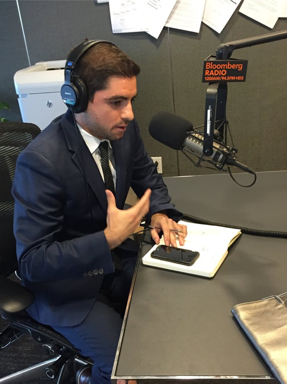 Sam gave an interview on the current state of higher education on Bloomberg Radio with President Gloria Larson (Bentley University)