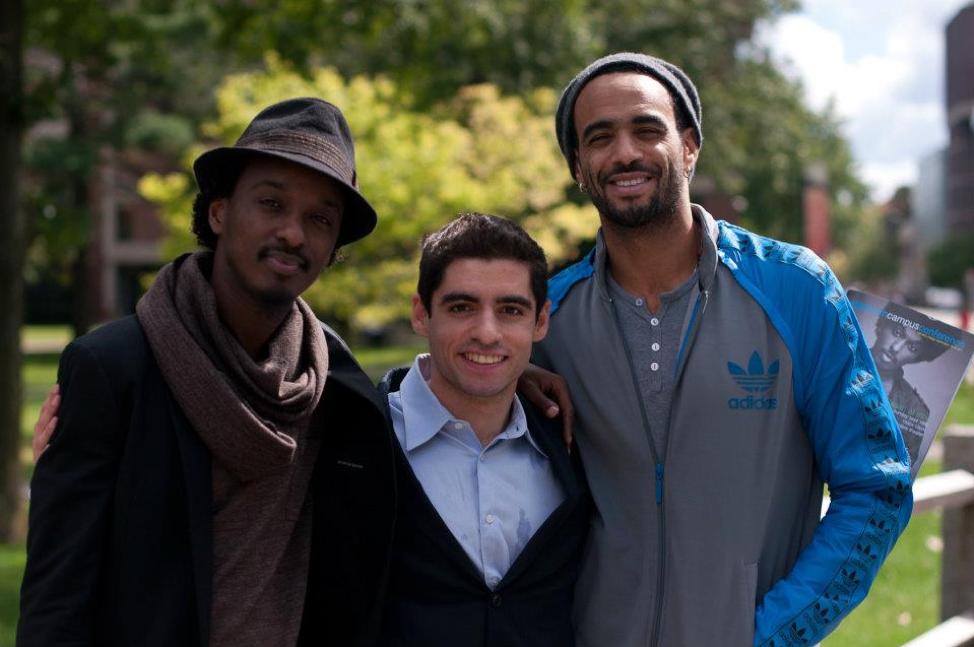 Sam Vaghar with K'naan and Sol Guy at MCN's third conference at Harvard University.