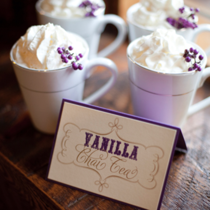 Having warm drinks available for guests is always a plus to beat the cold weather & add something different to a venue!  Photo: Southern Weddings