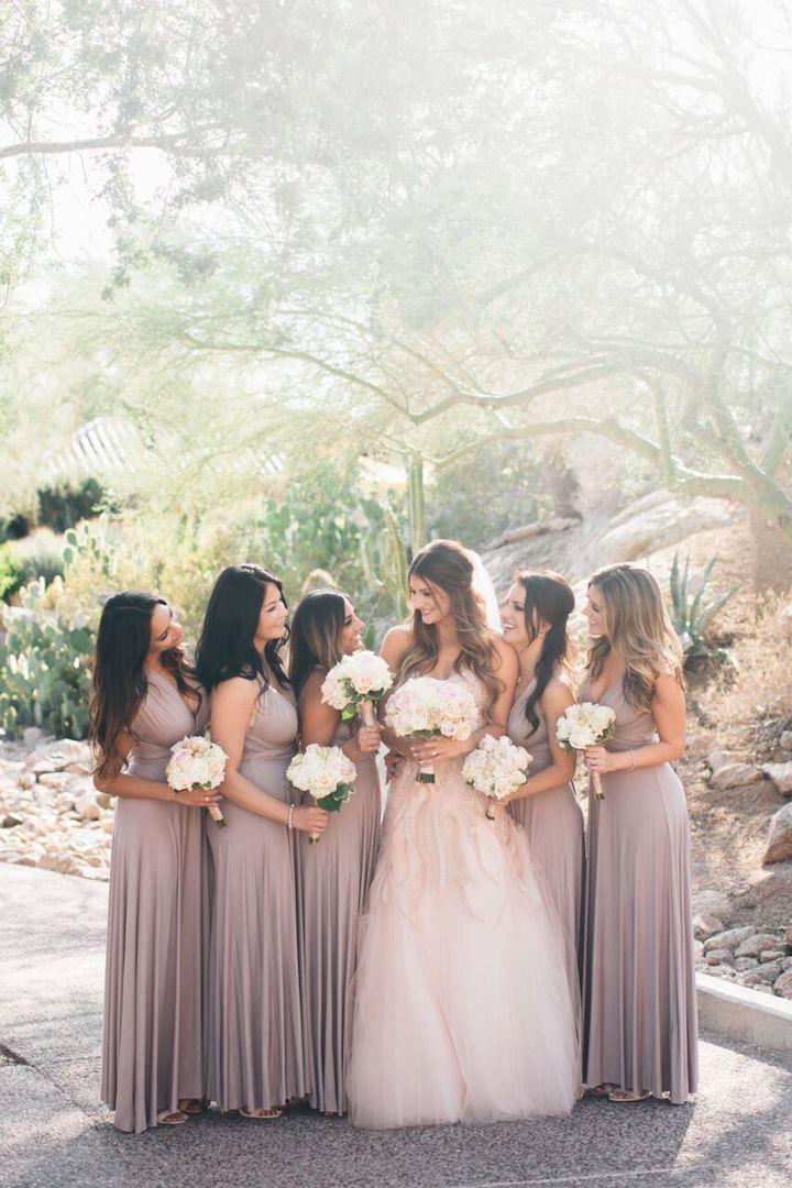 Shades of Champagne Bridesmaid Dresses