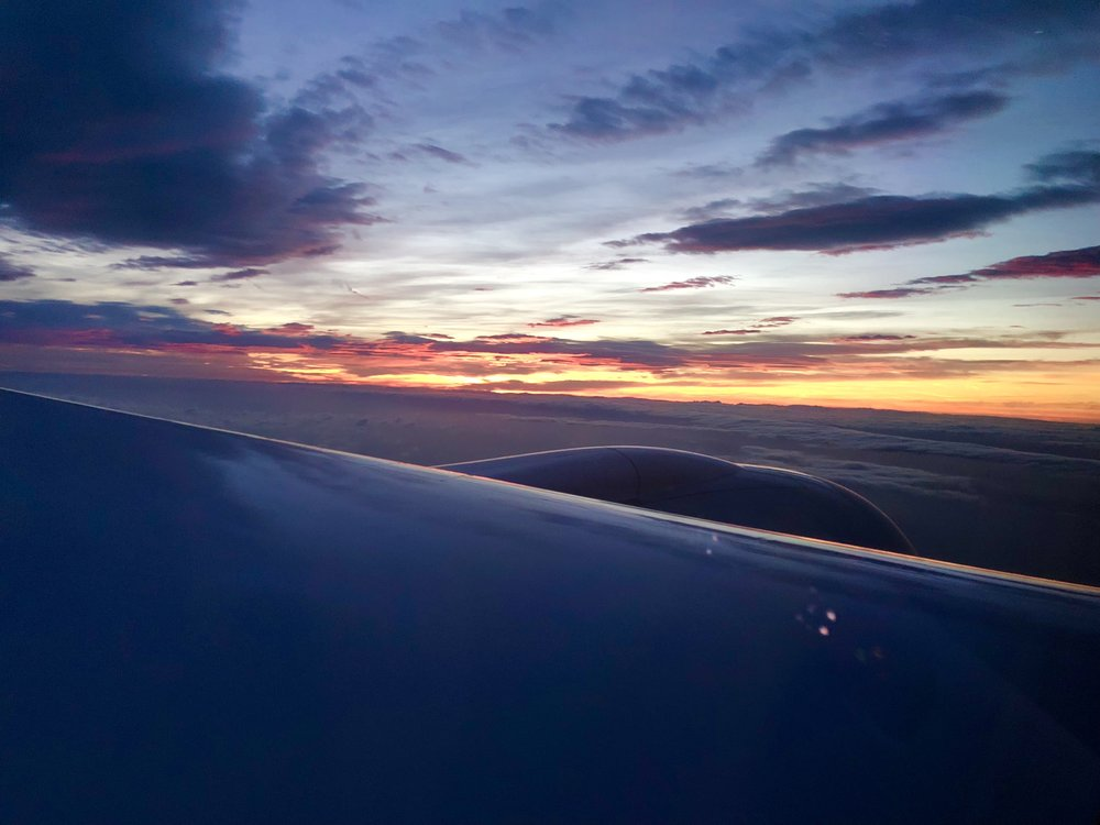 Our flight to Dublin arrived over 30 minutes early! We started our descent just as the sun began to rise.