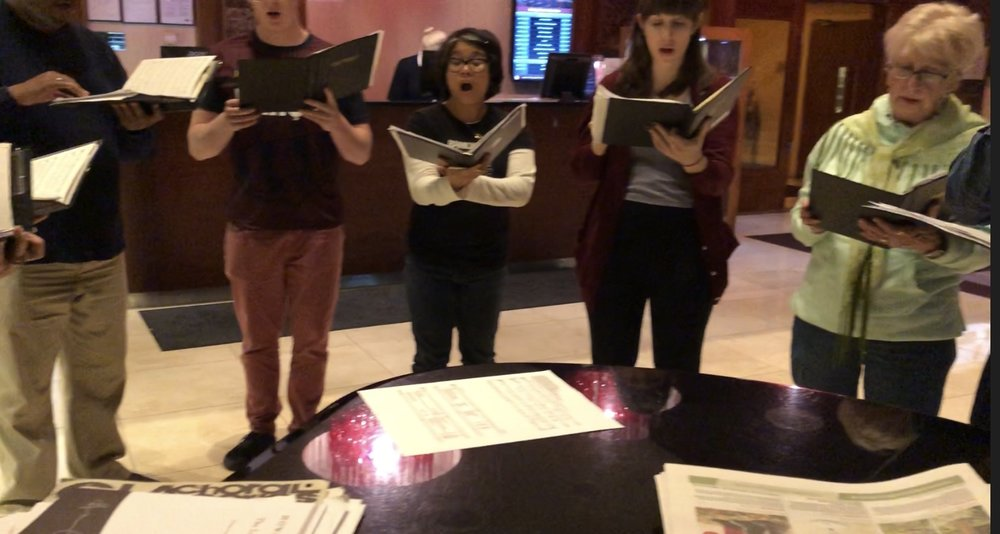 We ended the day with dinner at the Clayton hotel. After dinner we serenaded patrons with an impromptu rehearsal in the lobby.