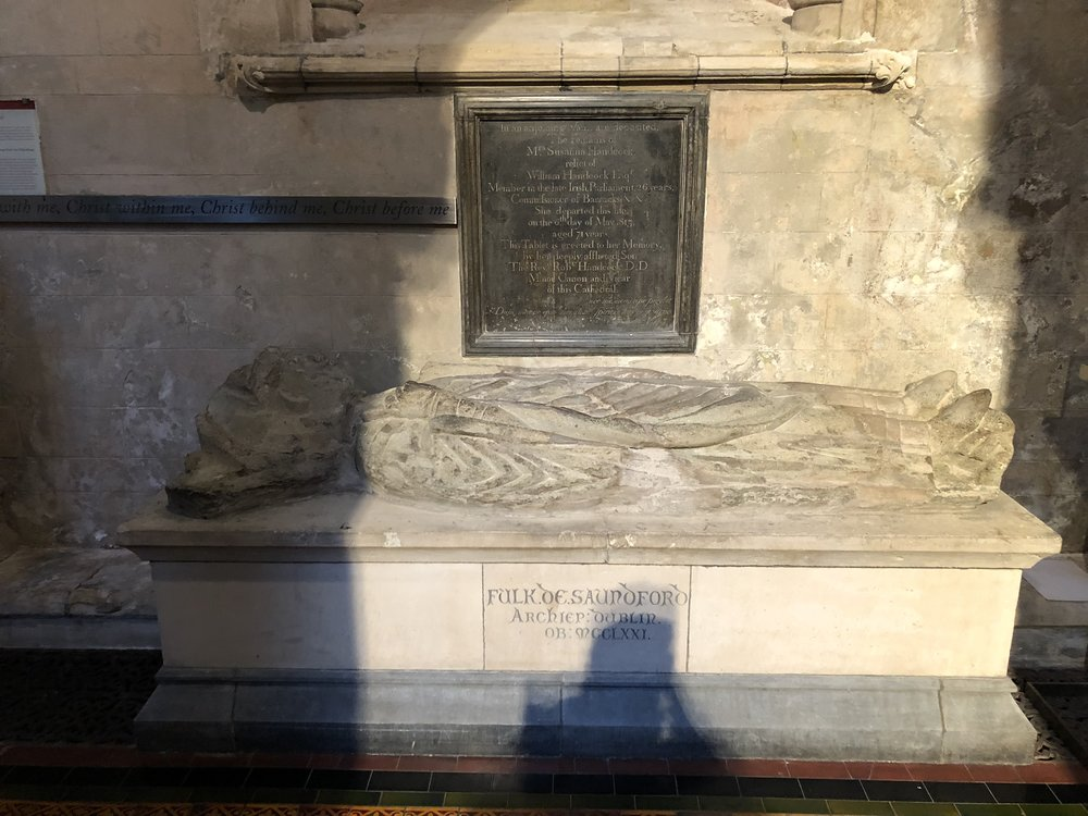 one of the many tombs in the church