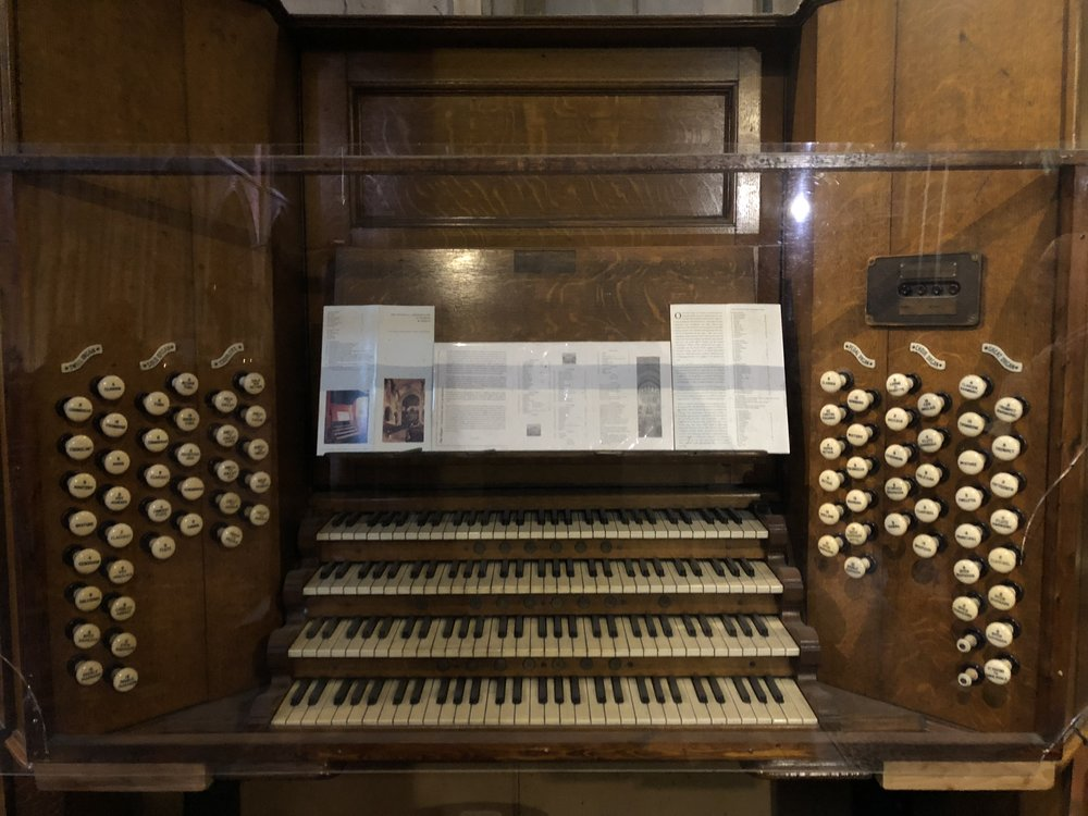 one of the old organ consoles