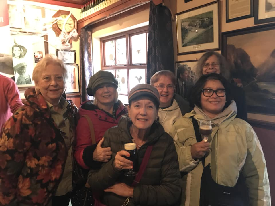 we enjoyed some Irish coffee to warm us up for the long journey ahead.
