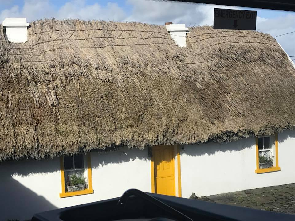 Along the road we learned about traditional thatched-roof house building. Above is an example of a modern house with a TRADITIONAL roof.