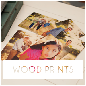 Wood Prints are thin, 1/8″ wooden panels that are meant to be displayed on a desk stand or framed. Larger Wood Prints do not come ready to hang on the wall. Display smaller wood prints (5×7 and 8×8) using a wooden desk stand. Prices start at $18.