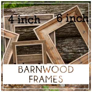 Our Barnwood frames are handcrafted from reclaimed wood in the Knoxville Tennessee area. They are the perfect complement for our burlap and wood prints. Frames can also be purchased to finish any artwork or photos you already have. Prices start at $125.