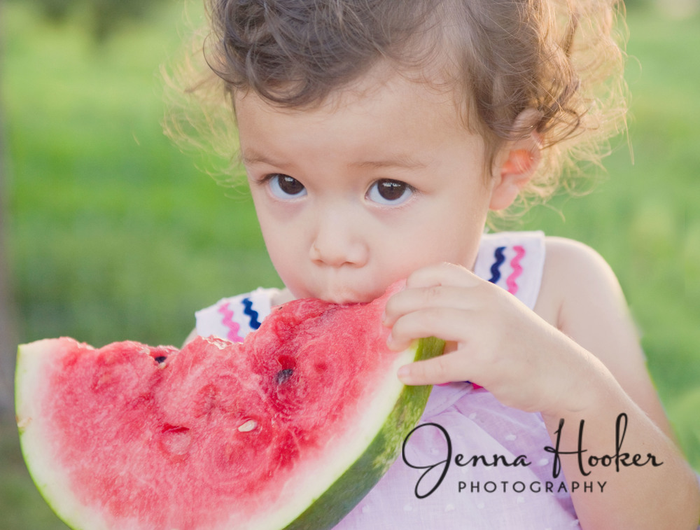 watermelon 4th of july mini photo session