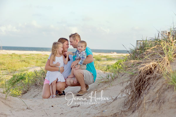 family photos at matagorda beach and sand dunes