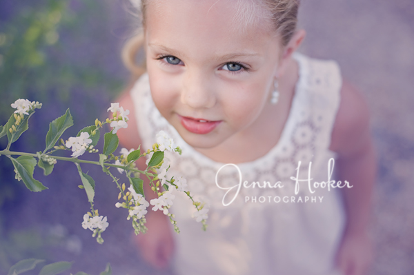 5 year old portrait flowers