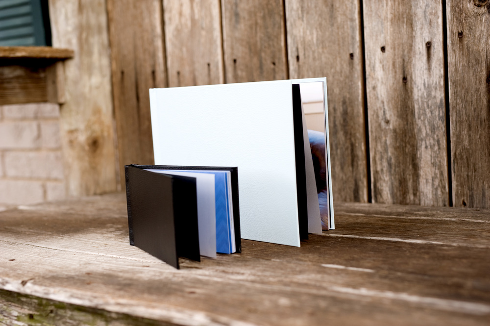 Pictured 8x10 and 5x7 layflat press book