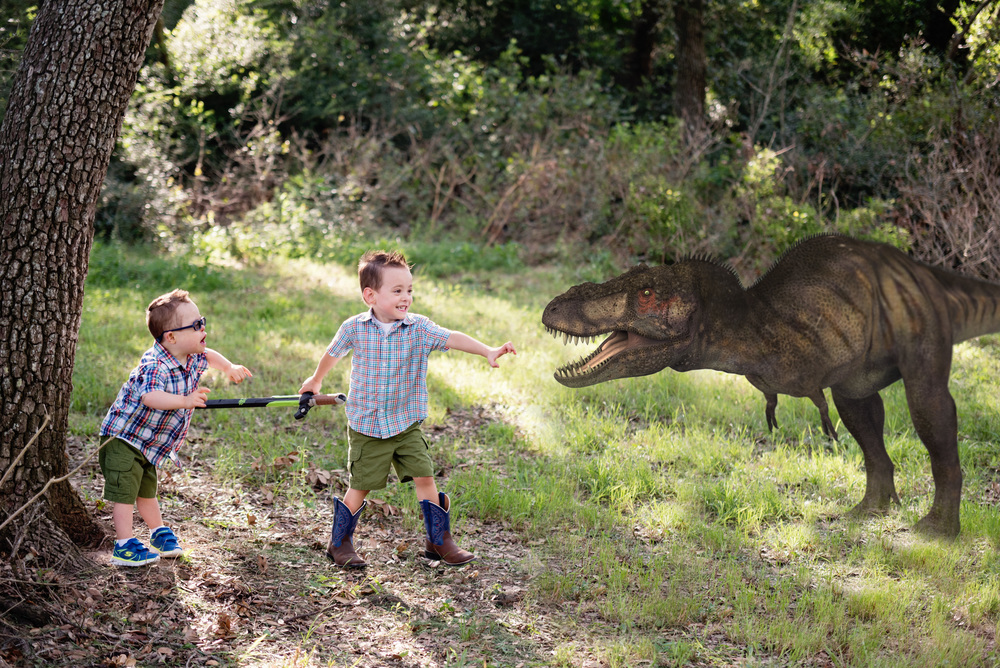 "Dinosaur Boy ""magic"" mini sessions"