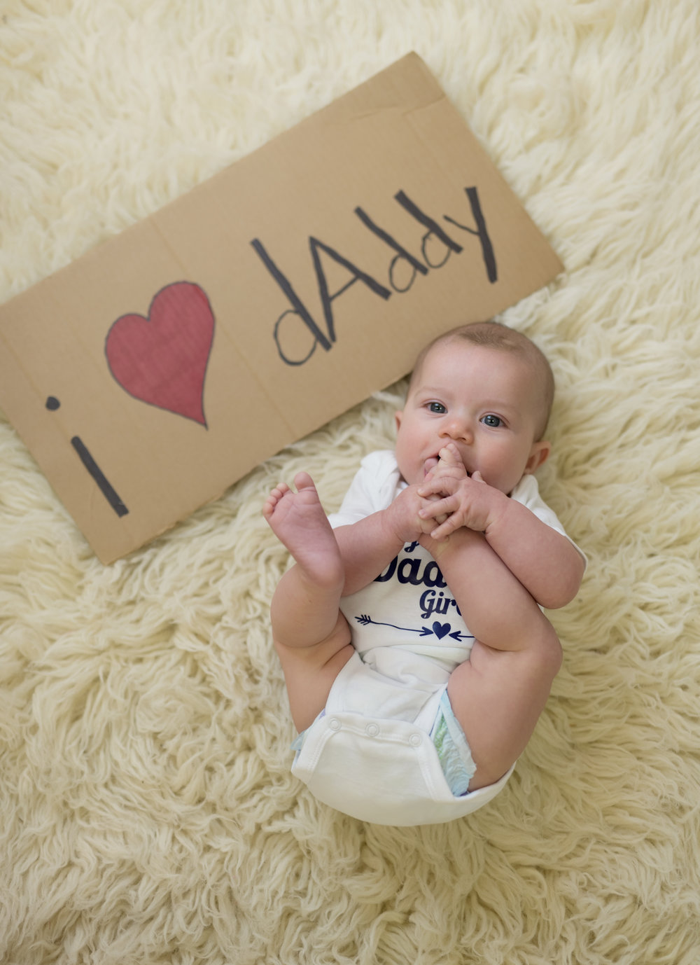 I heart daddy sign for 6 month old