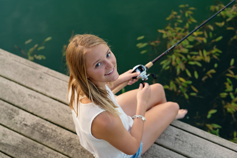 Fishing senior photos ideas
