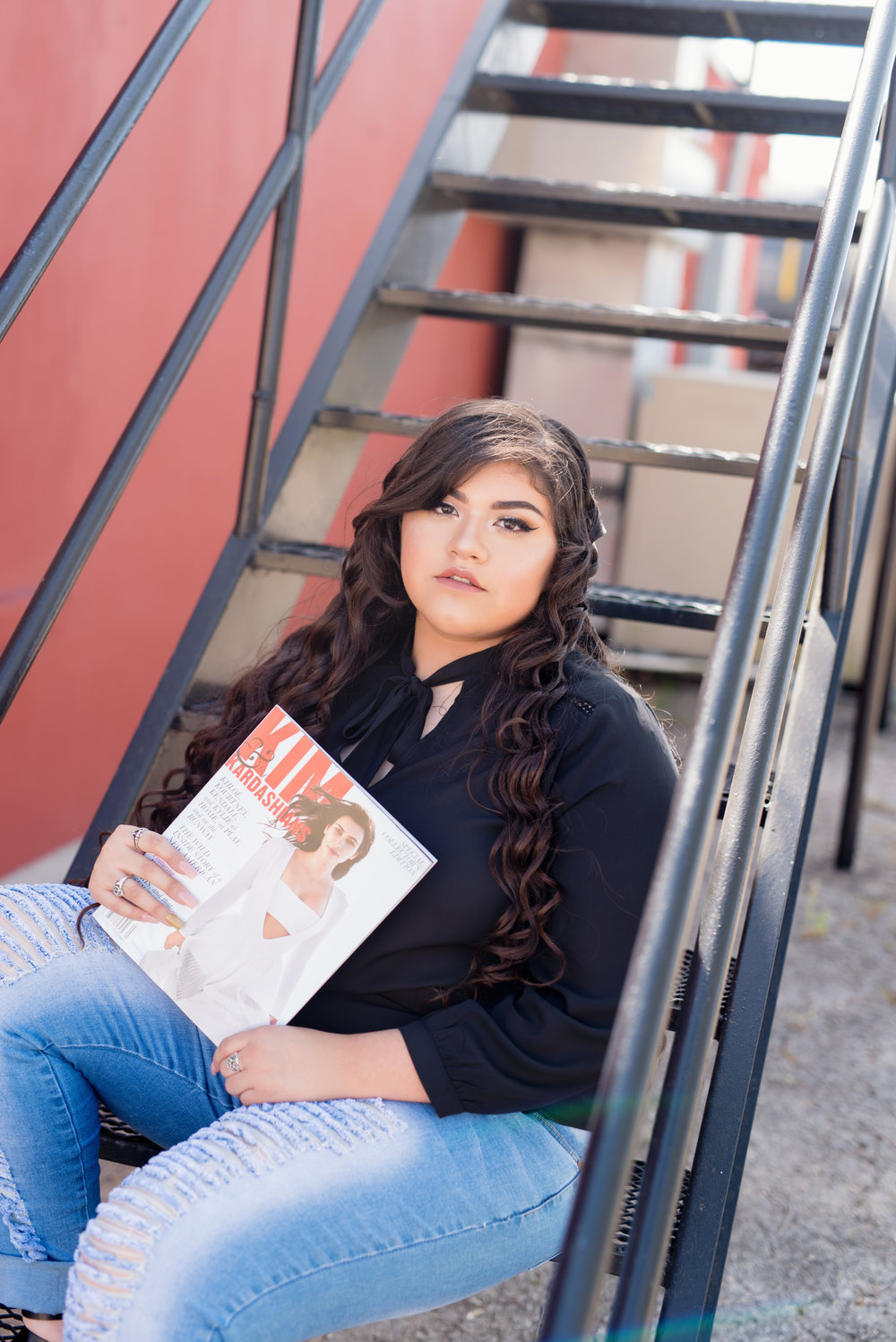 senior portraits with KIM Magazine posing ideas