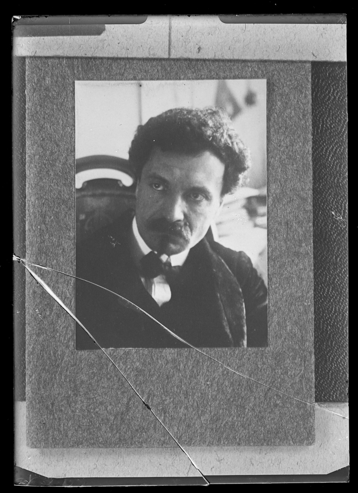Another friend brought me this image (of a grandfather he had never met) as a broken glass negative. What became clear was that this was a photograph of a  print from an album! Not a great image but a good rescue of something that couldn't really be viewed at all.