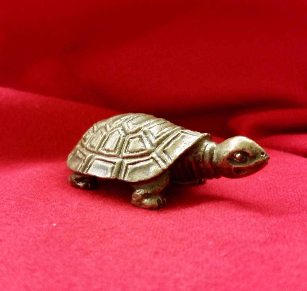 Bronze Japanese turtle netsuke