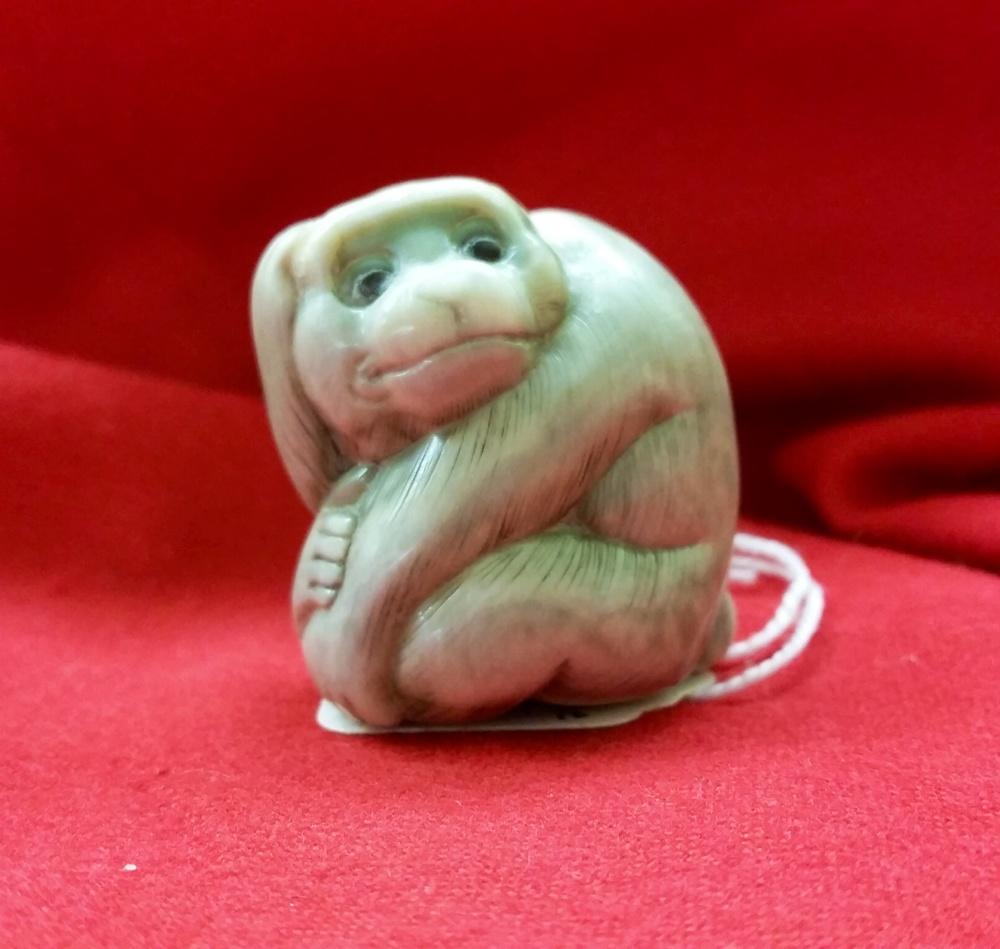 Japanese ivory monkey netsuke