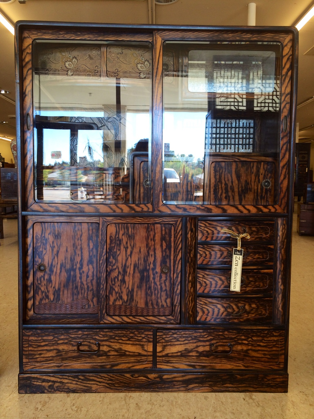 Japanese cha tea cabinet - Gallery Of Furnishings — Ming's Asian Gallery
