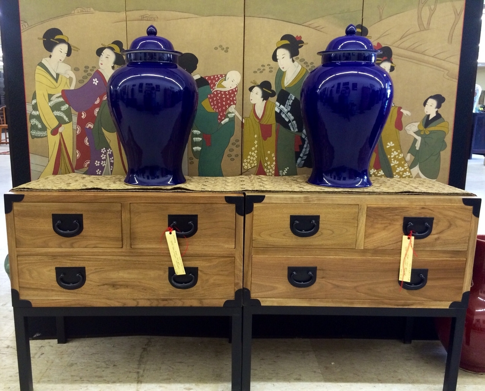 Japanese tansu side table