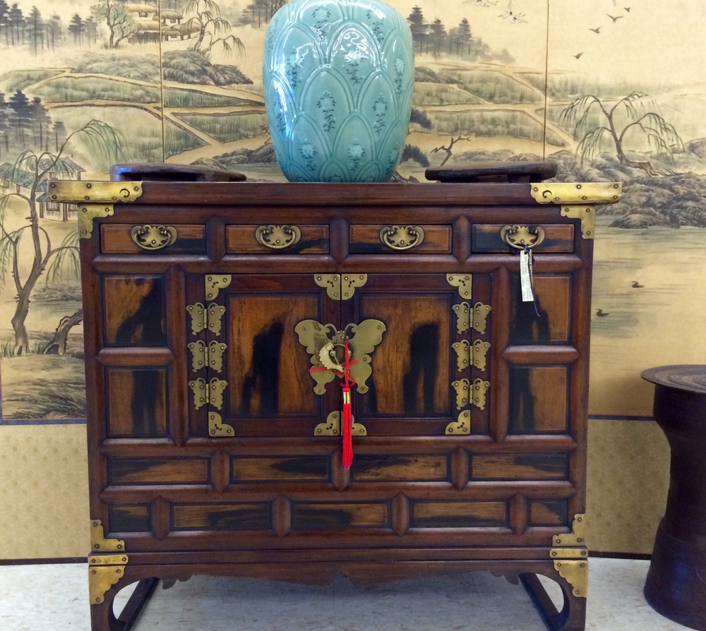 Antique Korean head-side chest