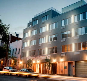 CCM purchased this former parking lot and has since converted it into 23 residential units in 2007. It is mixed use community and residential building with a total area of 35,000 square feet. 286 Stanhope is located in the Bushwick neighborhood of Brooklyn.