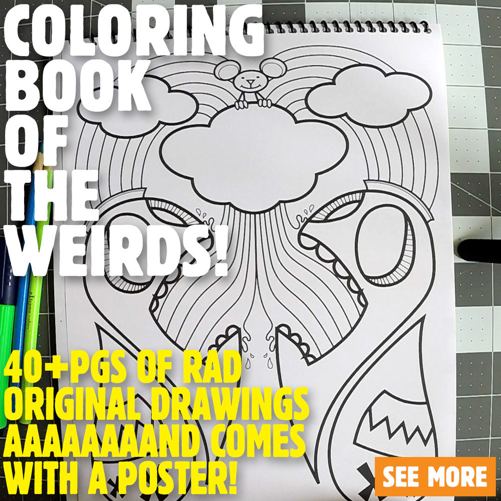Coloring Book of The Weirds